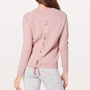 ✨Lululemon Pink Tied to You Sweater sz 6